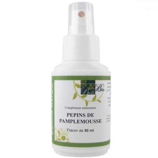 Spray Pépins de Pamplemousse 50 ml - Titré à 45% de bioflavonoïdes. Idéal pour booster ses défenses immunitaires.