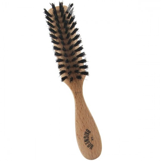 Brosse à Barbe - Poil naturel Sanglier - Brosse fabriquée en France pour le soin de la barbe. Pour homme le Baigneur