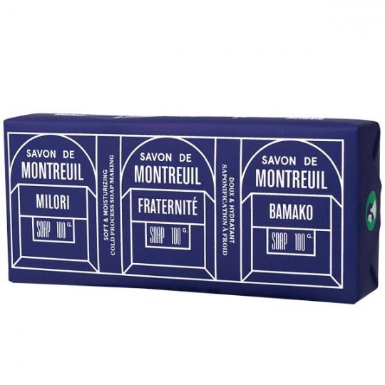 Pack de 3 savons 300gr - Fraternité, Milori, Bamako Le baigneur