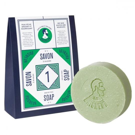 Savon à Barbe n°1 - Aloe Vera & Argile verte (Peau sèche)