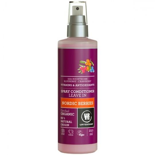 Spray Après-Shampoing aux Baies Nordiques 250 ml - Réparateur Urtekram