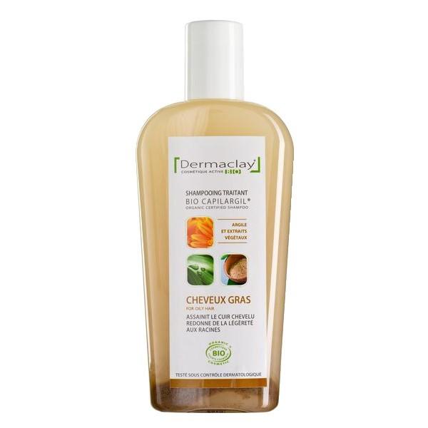 Shampoing sans silicone ni als pour le soin des cheveux gras dermaclay 250 ml - Produit pour enlever le silicone sec ...