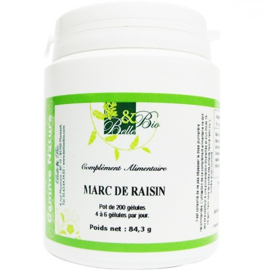 Marc de raisin 200 gélules - Anti Cellulite