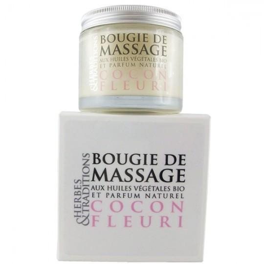 Bougie de massage Bio Cocon fleuri