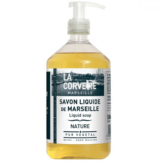 Savon de Marseille liquide 500 ml - Nature