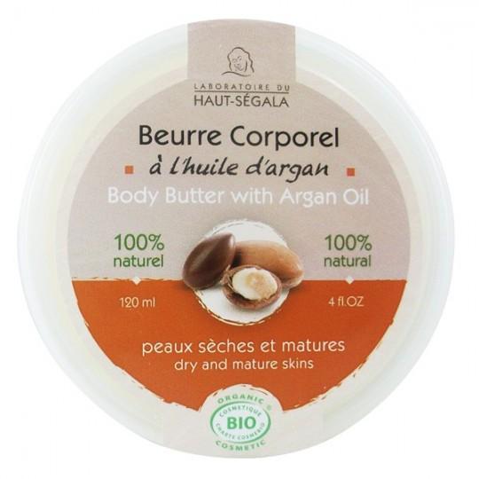 Beurre corporel à l'huile d'argan 120 ml - Peaux sèches et matures