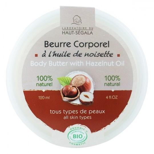 Beurre corporel à l'huile de noisette 120 ml - tous types de peaux - Laboratoire du Haut Ségala