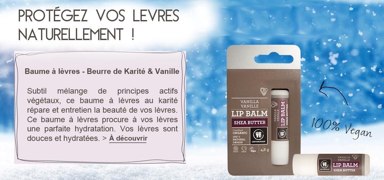 Baume à lèvres - Gerçures Beurre de Karité & Vanille