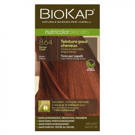 Coloration 8.64 Roux Titien - Delicato (Blond Clair Rouge Cuivré) Titian rouge - Biokap