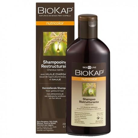 Shampoing restructurant pour cheveux colorés - Biokap - Entretien l'éclat de la couleur
