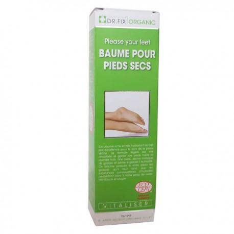 baume pour les pieds secs dr fix organic hydrate et embellit vos pieds. Black Bedroom Furniture Sets. Home Design Ideas