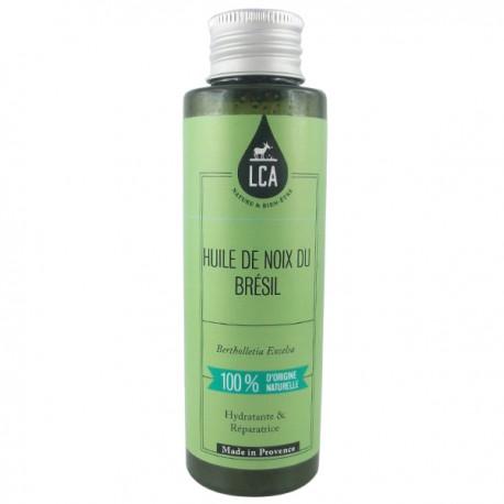 Huile de Noix du Brésil Bio 50 ml - Hydratante et anti-fourches - Une huile magique contre la peau de crocodile. Huile sèche