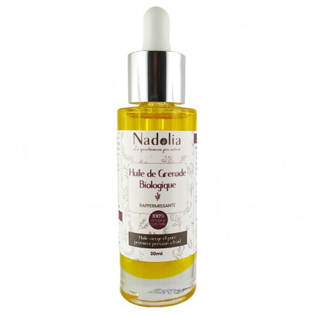 Huile de Pépins de Grenade 30 ml - Anti Cernes et Anti Poches - Une huile qui agit contre le gonflement des yeux.