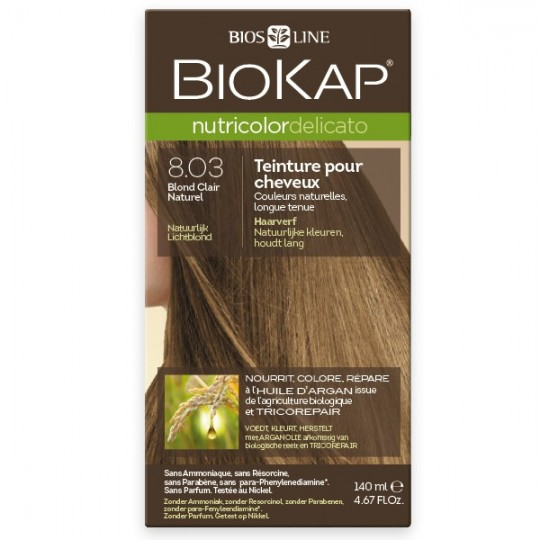 Coloration 8.03 Blond Clair Naturel - Delicato