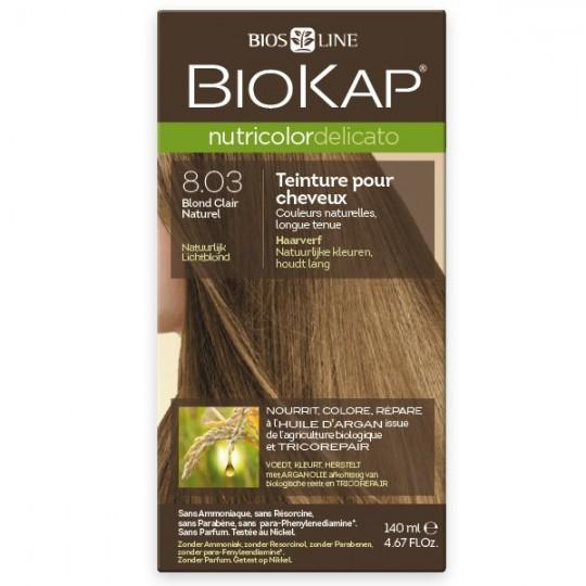 Coloration 8.03 Blond Clair Naturel - Delicato - Biokap coloration sans ammoniaque acheter trouver