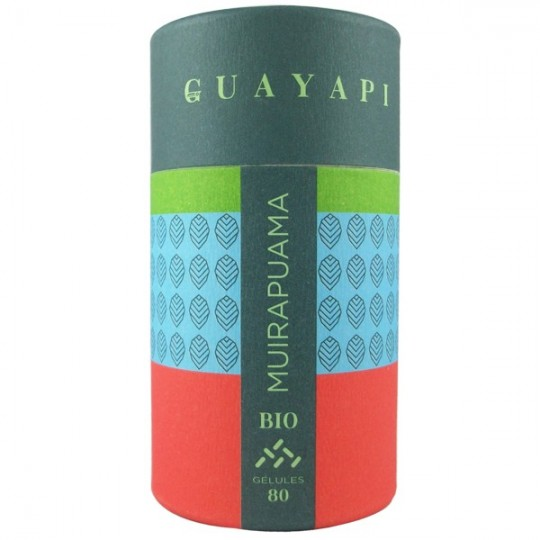 Muirapuama - Puissant Tonique sexuel de Guayapi en 80 gelules. Idéal pour retrouver force et vitalité dans l'érection