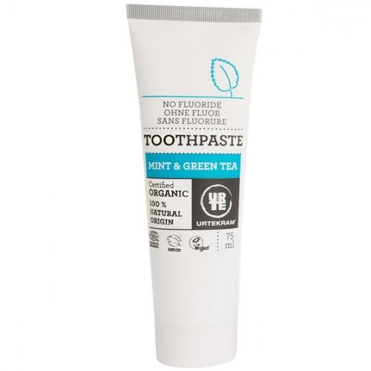 Dentifrice à la Menthe et au Thé Vert 75 ml - Sans Fluorure Haleine fraîche et action anti-bactérienne