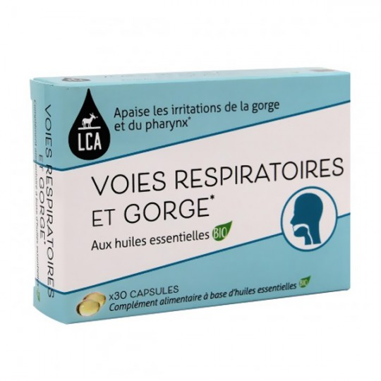 Capsules d'huiles essentielles Bio - Voies respiratoires et Gorge