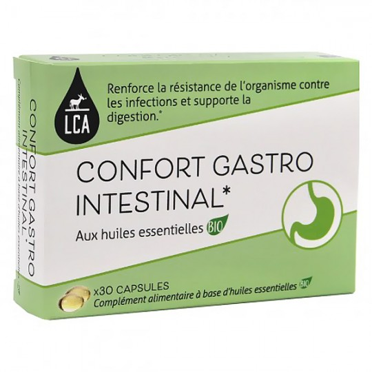 Capsules d'huiles essentielles - Digestion Transit pour apaiser les inconforts digestifs comme les ballonnements.