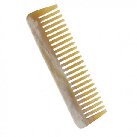 Peigne à Barbe 9 cm - Corne naturelle - Peigne spécial pour la barbe et le bouc pour homme. Corne naturelle des pyrénées.