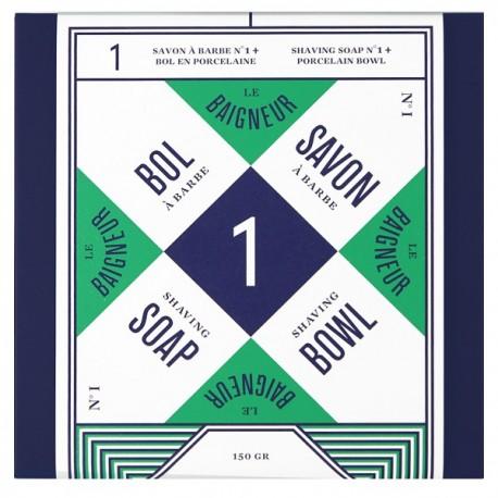 Savon à Barbe n°1 avec Bol - Aloe Vera & Argile verte (Peau sèche)