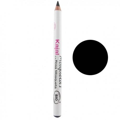 Kajal yeux - Noir mosqueta's maquillage bio à l'huile de rosier musquée