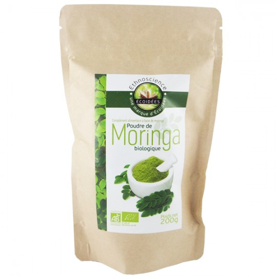 Poudre de Moringa Pur Bio - Premium