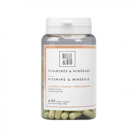 Multi-vitamines et Complexe minéraux en gélules pour éviter ou en cas carences