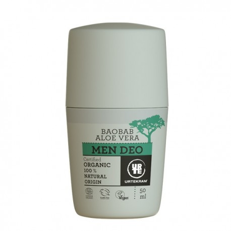 déodorant bio pour homme à aloe vera urtekram baobab