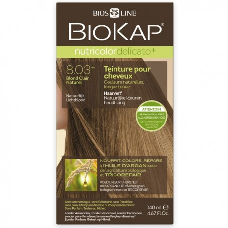 Coloration 8.03 Blond Clair Naturel - Delicato+