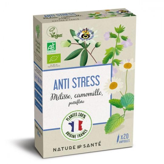 Ampoules Bio Anti-Stress 20x10ml - Aux plantes françaises