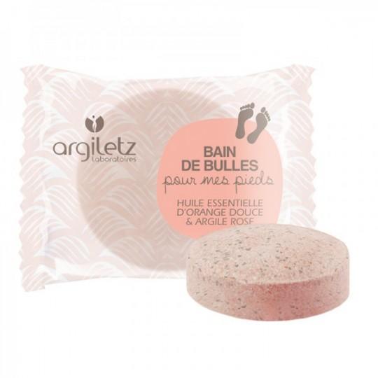Galet pieds effervescent - Argile Rose et Huile essentielle d'Orange douce