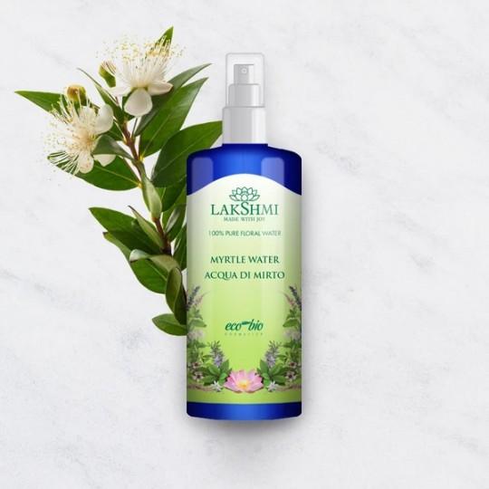 Eau florale de Myrte Bio 150 ml Lakshmi - Teint terne et Yeux fatigués