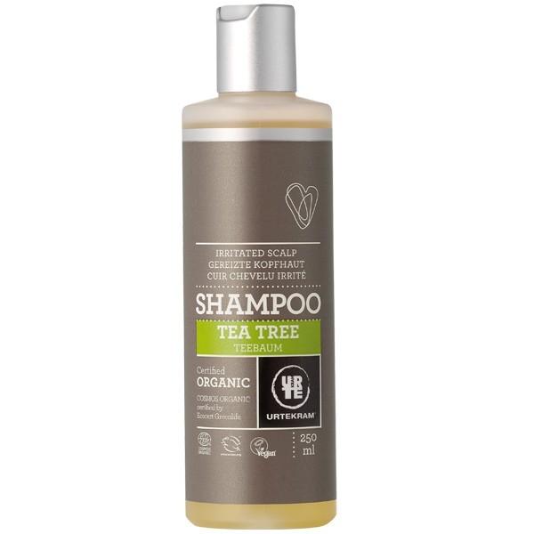 urtekram shampoing au tea tree pour cheveux gras et pellicules en 250 ml ou 500 ml 20 de. Black Bedroom Furniture Sets. Home Design Ideas