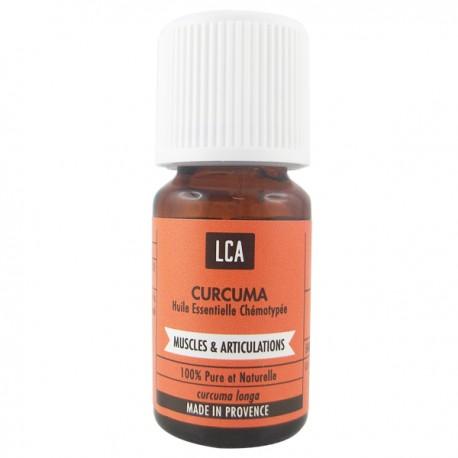 Huile essentielle de Curcuma d'Inde utilisation pour les muscles et les articulations.