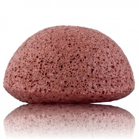 Éponge Konjac Visage – Argile Rouge - Peaux Sèches et Matures