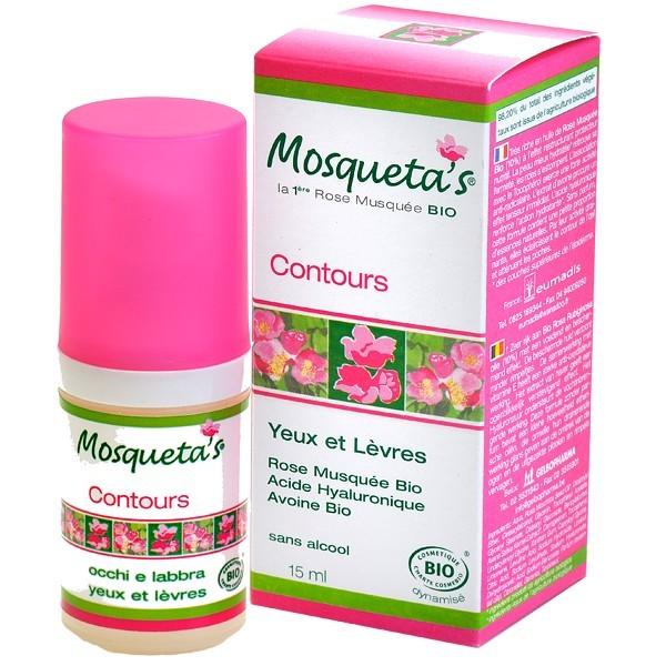 Contours des yeux et l vres 15ml rose musqu e mosqueta - Contour des yeux acide hyaluronique ...