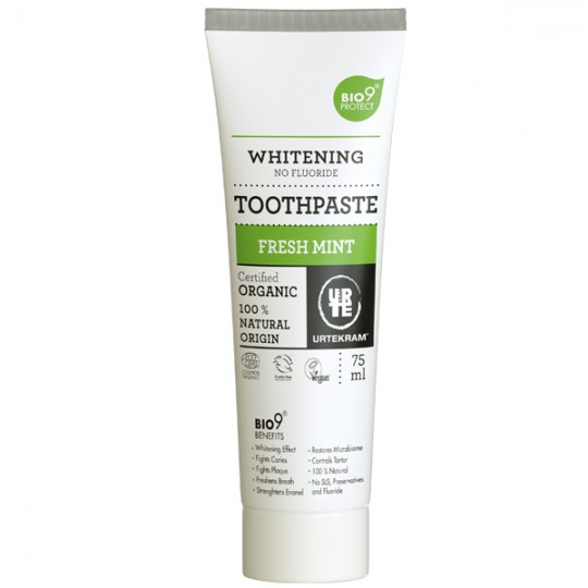 Dentifrice à la Menthe Forte Sans Fluorure 75ml - SensitiveBio9®