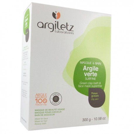 argile verte surfine sachet de 300g masque visage et cheveux argiletz. Black Bedroom Furniture Sets. Home Design Ideas