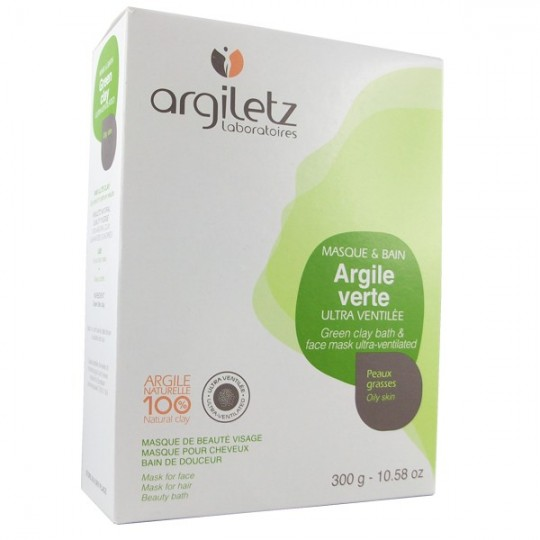 Argile Brute Verte ultra ventilée 300g - masque et bain