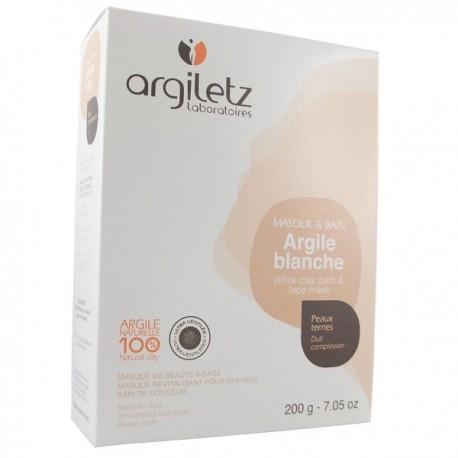 Argile Brute Blanche ultra ventilée 200g - masque et bain