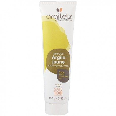 argiletz visage argile jaune 100g peaux mixtes tube. Black Bedroom Furniture Sets. Home Design Ideas
