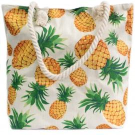 CADEAU : Sac de plage anse en corde souple - Ananas