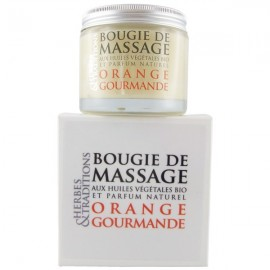 Bougie de massage naturelle - Orange Gourmande