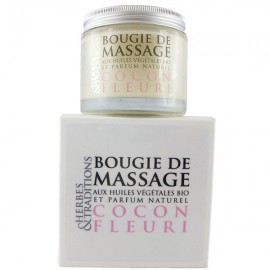 Bougie de massage naturelle - Cocon fleuri