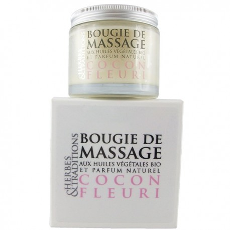 Bougie de massage Bio Cocon fleuri