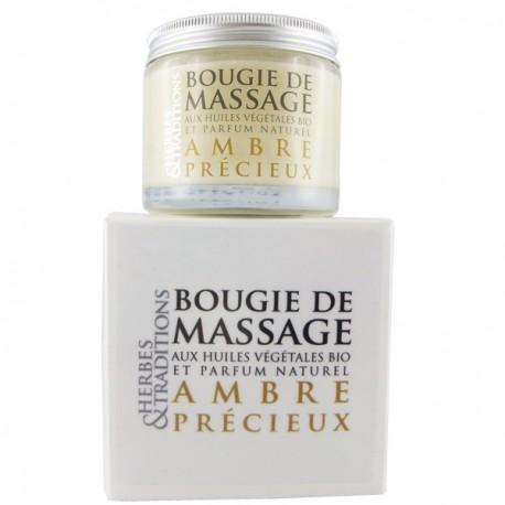 Bougie de massage naturelle - Ambre Précieux