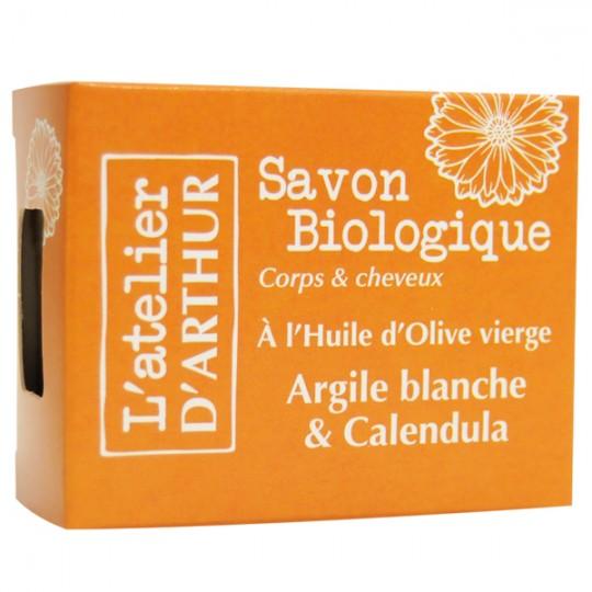 Savon Argile Blanche et Calendula 100gr - Apaise et soulage les rougeurs