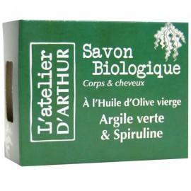 Savon Argile verte et Spiruline 100gr – Corps et Cheveux