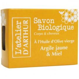 Savon Argile jaune et Miel 100gr – Corps et cheveux